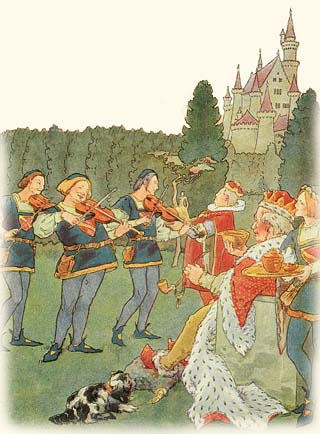 Old King Cole and Three Fiddlers